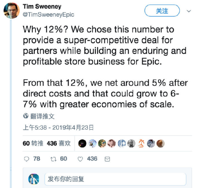 EpicCEO喊话G胖:Steam愿意收12%分成,Epic就不搞独占-有饭研究