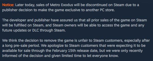 《地铁:逃离》逃离Steam,PC版由EpicStore独占-有饭研究